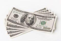 Sommige dollarrekeningen Stock Afbeeldingen