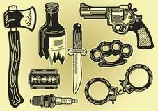 Sommige elementen van misdadigheid en diefstal Royalty-vrije Stock Fotografie