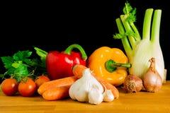 Sommige groenten klaar om worden gekookt Stock Fotografie