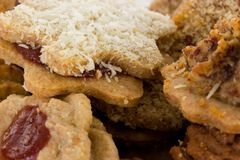Sommige heerlijke koekjes voor Kerstmis Stock Afbeeldingen