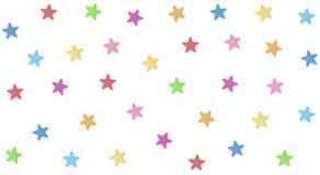 Sommige leuke sterren en zo kleurrijk Stock Afbeeldingen