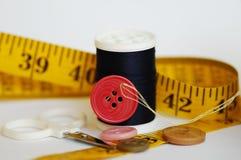 Sommige naaiende hulpmiddelen Stock Foto's