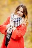 Sommige portretten van glimlachend meisje, botanische tuin, de herfst zien eruit Stock Foto's
