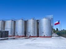 Sommige tanks van de wijn metaalgisting Stock Afbeeldingen