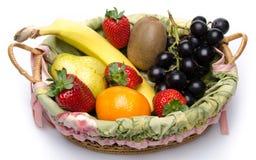 Sommige vruchten in een mand Royalty-vrije Stock Fotografie