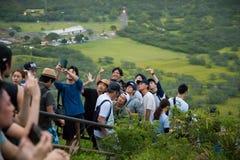 Sommità ammucchiata Diamond Head Hike Immagini Stock