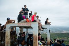 Sommità ammucchiata Diamond Head Hike Fotografia Stock Libera da Diritti