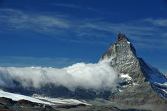 Sommità del Matterhorn Fotografia Stock Libera da Diritti