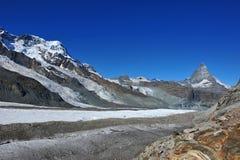 Sommità del Matterhorn Fotografia Stock