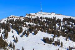 Sommità del Mt Rigi in Svizzera nell'orario invernale Fotografia Stock Libera da Diritti
