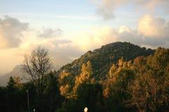 Sommità della montagna al tramonto Immagine Stock Libera da Diritti