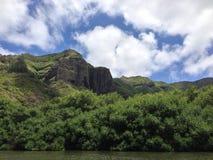 Sommità della montagna dell'isola Fotografia Stock