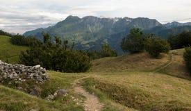 Sommità della montagna di Krn da Kolowrat in Julian Alps Fotografie Stock