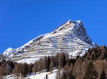 Sommità della montagna di Schiahorn come visto da Tavate fotografia stock