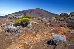 Sommità della Riunione della La del vulcano di Piton de la Fournaise fotografia stock libera da diritti