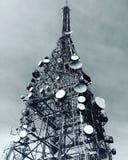 Sommità della torre radiofonica Fotografia Stock Libera da Diritti