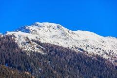 Sommità delle alpi svizzere come visto da Tavate nell'inverno Immagini Stock