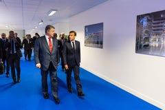 Sommità di alleanza militare di NATO a Bruxelles fotografia stock libera da diritti