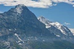 Sommità di Eiger nelle alpi di Bernese, Svizzera Fotografia Stock Libera da Diritti
