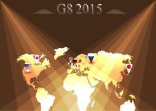 Sommità di G8 infographic Fotografia Stock Libera da Diritti
