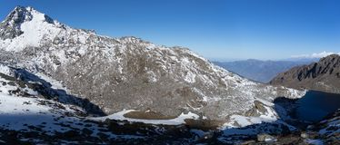 Sommità di Himalata della montagna nel Nepal Fotografia Stock