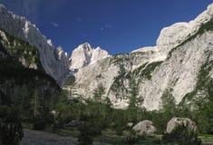 Sommità di Jalovec nelle alpi di Julian Immagini Stock Libere da Diritti
