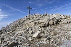 Sommità di Mitterhorn nelle alpi austriache Fotografie Stock Libere da Diritti