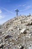 Sommità di Mitterhorn nelle alpi austriache Immagini Stock