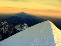 Sommità di Mont Blanc fotografia stock libera da diritti
