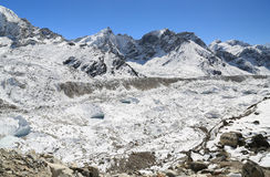 Sommità di Nuche accanto di everest Nepal Immagini Stock