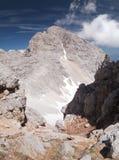 Sommità di Skrlatica nelle alpi di Julian Fotografie Stock