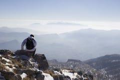 Sommità di una montagna Fotografia Stock