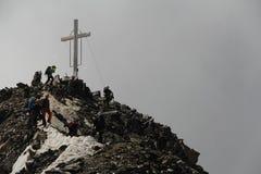 Sommità di Wildspitze nelle alpi di Otztal, Austria Fotografia Stock Libera da Diritti