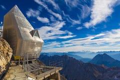 Sommità durante l'autunno tardo, alpi, Germania di Zugspitze Immagini Stock Libere da Diritti
