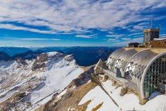 Sommità durante l'autunno tardo, alpi, Germania di Zugspitze Fotografia Stock Libera da Diritti