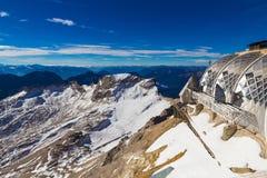 Sommità durante l'autunno tardo, alpi, Germania di Zugspitze Immagini Stock