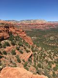 Sommità rossa della roccia in Sedona Arizona immagini stock libere da diritti