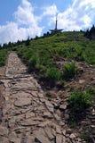 Sommità traccia di escursione e di hora pietrosi di Lysa Fotografie Stock Libere da Diritti