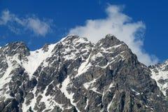 Sommità della roccia della montagna Immagini Stock Libere da Diritti
