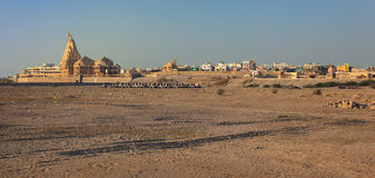 Somnath Temple at sunset Stock Image