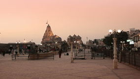 Somnath Temple at sunset stock video footage
