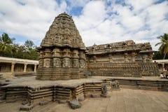 Somnathpur寺庙侧视图  免版税图库摄影