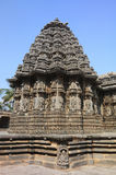 Somnathpur Temple,Mysore. Somnathpur Temple decorated with richly carved friezes, portraying rows of cavalry, elephants and scenes from the epics. The rows above Royalty Free Stock Images