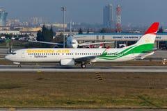 Somon luft Boeing 737-800 Arkivbild