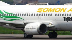 Somon luftBoeing 737 avvikelse arkivfilmer