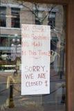 Somos cerrados Foto de archivo libre de regalías