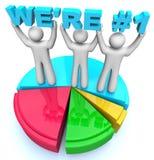 Somos el número uno - gráfico de sectores de la cuota de mercado Imagen de archivo libre de regalías