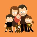 Somos la familia 3 ilustración del vector