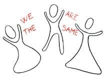 Somos lo mismo dibujados con un creyón. Imagenes de archivo