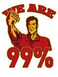 Somos los 99% ocupamos al trabajador del americano de Wall Street Imagen de archivo libre de regalías